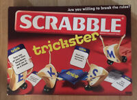 SCRABBLE TRICKSTER BOARD GAME BY MATTEL SPELLING FAMILY KIDS GAME 10+ 2-4 Player