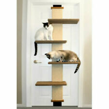 Cat Door Exercise Shelves Climber and Scratch Board Space Saving
