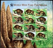 1999 MNH LIBERIA WWF MONGOOSE STAMPS SHEET OF 12 WILD ANIMALS WILDLIFE NATURE