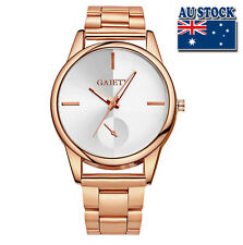 WholeSale Hot Luxury Classic Men's Stainless Steel Rose Gold Plated Quartz Watch
