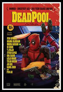 Deadpool Pulp Fiction Movie Poster Print & Unframed Canvas Prints