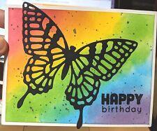 Butterfly Handmade Greeting Card, birthday, rainbow, party,
