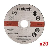 """20 x Ultra Thin Metal Cutting Discs Cut Grinding 115mm 4.5"""" 4 ½ """" Angle Grinder"""