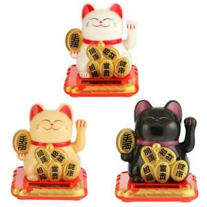 Chinese Lucky Cat Wealth Waving Shaking Hand Fortune Welcome Cat Home Craft UK