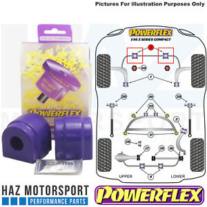 Powerflex Front Anti Roll Bar Poly Bushes 23.5mm For BMW E46 3 Series 99-06
