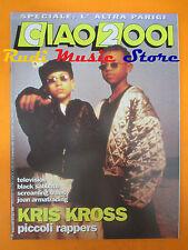 rivista CIAO 2001 36/1992 Kris kross Black Sabbath Antonacci Television * No cd