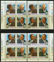 Canada Stamp #1305a - Canadian Doctors (1991) 4 x 40¢ 4 inscription blocks VFNH
