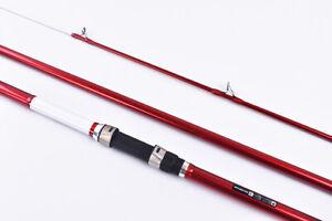 Surf Casting Fishing Rod 3-Piece Carbon Fibr Travel Rod Portable~14 ft~FREE Ship