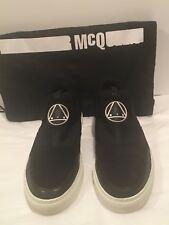 ALEXANDER McQUEEN McQ Men's slip-on leather/nylon sneakers size 43EU or 10 US