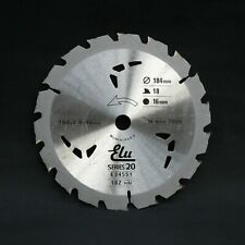 Elu E34551 Series 20 184mm x 16mm 18T TCT Circular Saw Blade. Wood with Nails
