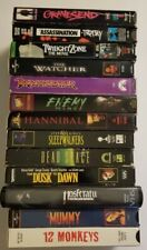 Horror Scary Vhs lot 13 Movies Sleepwalkers Dusk til Dawn Hannibal Dragonslayer+