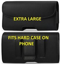 EXTRA LARGE LEATHER BELT CLIP HOLSTER POUCH HOLDER CASE COVER FOR ALL iPhones
