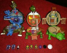 TMNT Mini Mutants Figures & Micro Playset Lot Bebop Mike Raph Leonardo Shredder