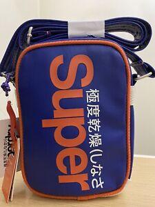 Superdry Festival Bag - Baseball Blue/Jaffa BNWT F0029