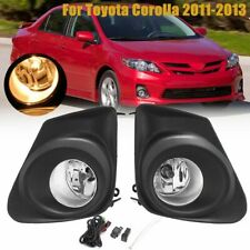 Pair Front Bumper Fog Light Lamp Bulb Switch Kit For Toyota Corolla 2011-2013 12