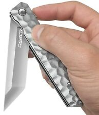 "EDC Pocket Folding Knife Ball Bearing Quickly Flipper Open  3.54"" Blade (Silver)"