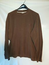 Columbia Xcq L Men's Thermal Shirt Long Sleeve Brown Large Polyester Crewneck
