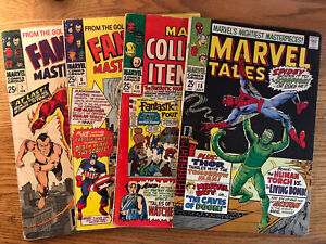 Lot Of 4 Silver Age Marvel Tales Collectors & Fantasy Masterpieces Golden Age