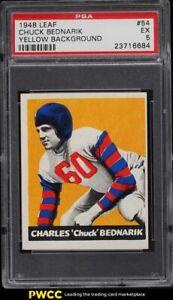 1948 Leaf Football Chuck Bednarik ROOKIE RC #54 PSA 5 EX