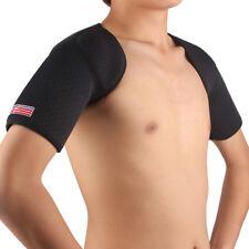 Double Shoulder Brace SX641 Black Sports Double Shoulder Brace Support Strap