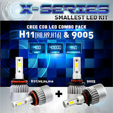 H11 9005 4PCS LED Total 400W 40000LM CREE Headlight High 6000K White Kit - (A)