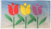 Tulips Springtime New Flowers Flag 3x5ft banner US Shipper