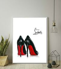 Christian Louboutin Illustration, Shoes fashion illustration poster print wall