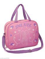 Girls Soft  Dance Shoulder Bag with Ballet Shoe Design Light Pink Roch Valley