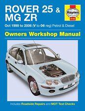 H4145 Rover 25 & MG ZR Petrol & Diesel (Oct 1999 to 2006) Haynes Repair Manual