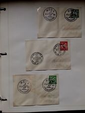 Lot 2 (3) Sweden Stamp Covers - Skiing & Special Cancellations 1955 - 1959