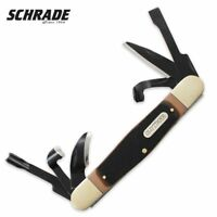 Schrade Splinter Wood Carving Old Timer Pocket Knife Carbon Steel Brown Handle