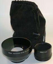Nikon WC-E80 Wide Angle Converter Lens 0.8x and Nikon UR-E8 adapter