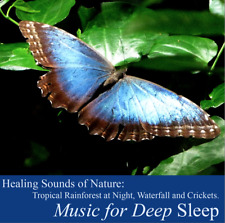 Nature Sounds Tropical Rainforest, Waterfall, Crickets.Musical for Deep Sleep CD