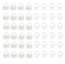 24 Pack of IKEA Glider and hooks VIDGA White 702.607.68 UK-ZCN