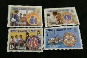 4 MINT Turks & Caicos Islands postage stamps philately postal Philatelic