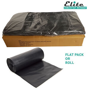200 Heavy Duty Black Refuse Sacks Strong Rubbish Bags Bin Liners Roll or Box