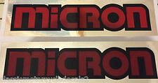 MICRON EXHAUST DECALS  KH250 RD400 Z1 900 GS1000 CB750 FS1E AP50 GT750 X7 GT RD