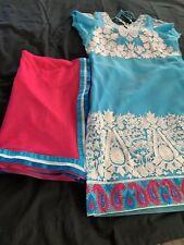 Indian Ethnic Punjabi Patiala Salwar Kameez Ready To Wear Party Wear- L