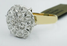 GENUINE DIAMOND ENGAGEMENT RING  10K Yellow Gold * BRAND NEW WITH TAG *