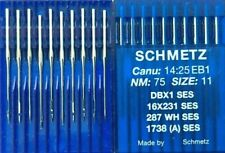 SCHMETZ DBX1SES 287WH CANU14:25EB1 NM:75/SIZE11 INDUSTRIAL SEWING MACHINE NEEDLE
