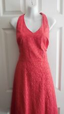 NWT $148 ANN TAYLOR 100% COTTON EMBROIDERED HALTER SUMMER DRESS PETITE 14 L