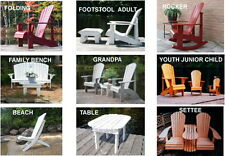 29 Adirondack Chair Plans - DOWNLOADABLE CAD PDF FILES