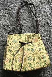 Pastimes Past Times Vintage Tapestry Carpet Tudor Style Drawstring Shoulder Bag