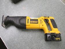 Used Dewalt Drill Sawzall Circular Saw 2 batteries Dc984 Dw937 Dw935