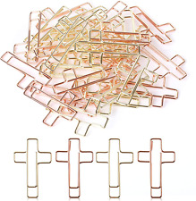 Cross Paper Clips Gold Amp Rose Gold Color Bible Journaling Items 35 Pcs