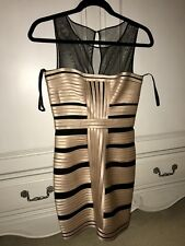 BCBG Maxazria Mesh Black and Cream Dress Size 2