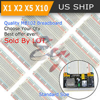 Lot Half ½ MB-102 400 Point Prototype PCB Solderless Breadboard Protoboard