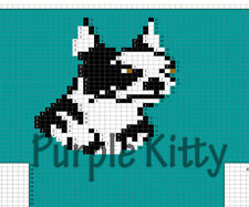 Boston Terrier Dog Socks and Necktie Pattern - Vintage Grace Ennis #7287