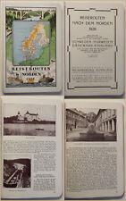 Original Prospekt Reiserouten nach dem Norden 1928 Geografie Landeskunde sf