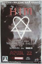 HIM 2010 SAN DIEGO CONCERT TOUR POSTER - FINNISH LOVE METAL ROCK MUSIC